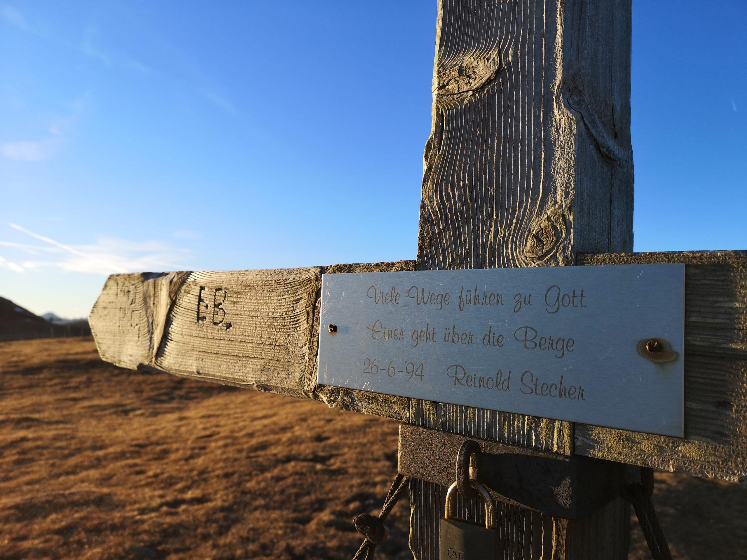 Gipfelkreuz Lachtal