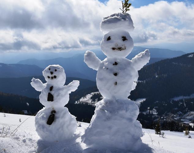 Schneemänner Lachtal